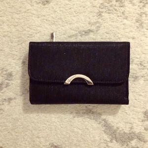 Shimmery black vinyl leather Betty Boop wallet